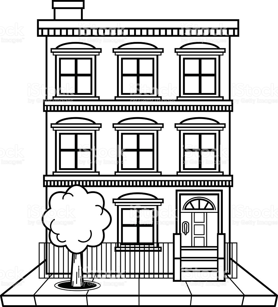 Apartment Clipart Black And White.