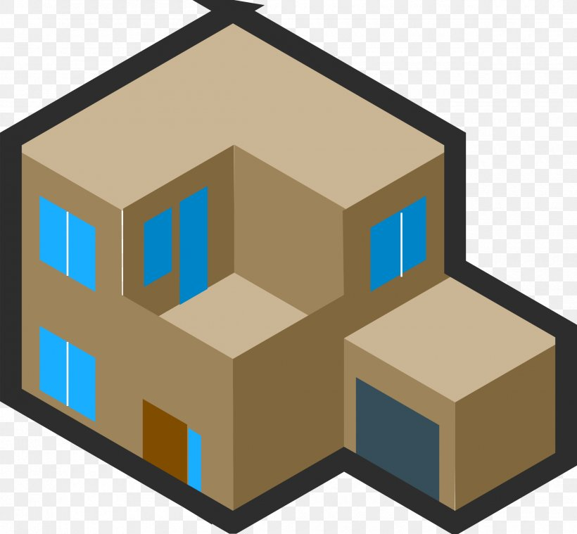 Drawing Building Isometric Projection House Clip Art, PNG.