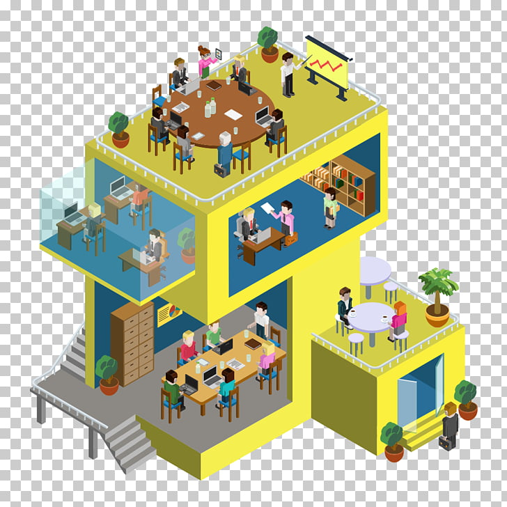Isometric projection Apartment Infographic Illustration.