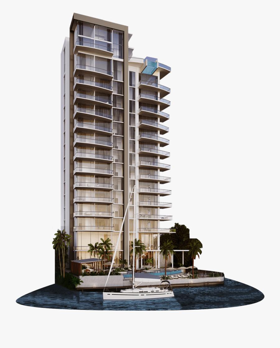 Transparent Apartment Complex Clipart.