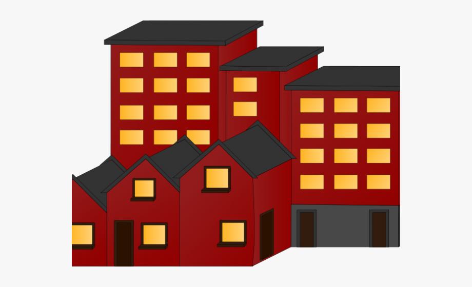 Apartment Complex Clipart Outline.