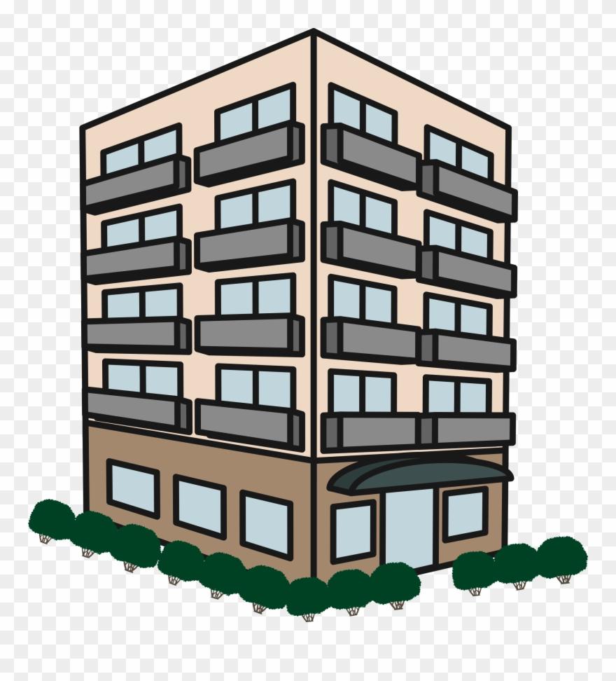 Apartment Complex Clipart Apartment House.