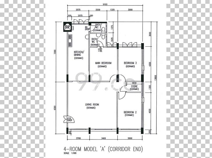Floor Plan Housing And Development Board House Real Estate.