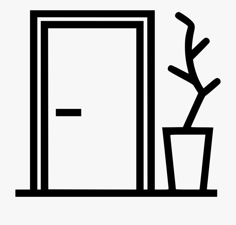 Clipart Door Apartment Door , Transparent Cartoon, Free.