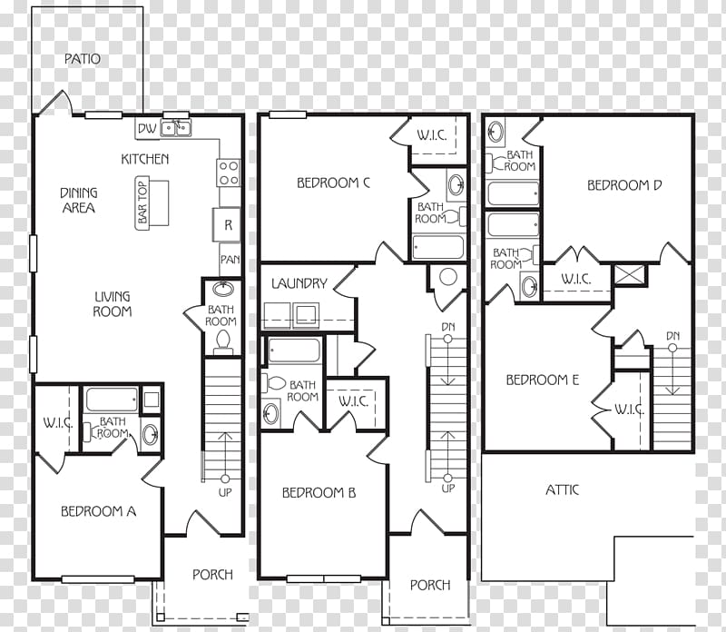 Floor plan The Retreat at Louisville Apartment House Renting.