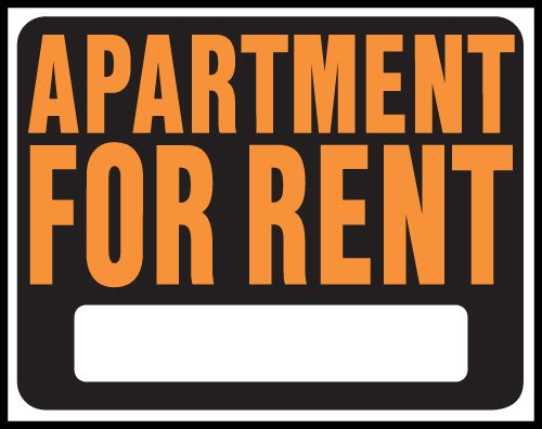 Apartment For Rent Signs Clipart.