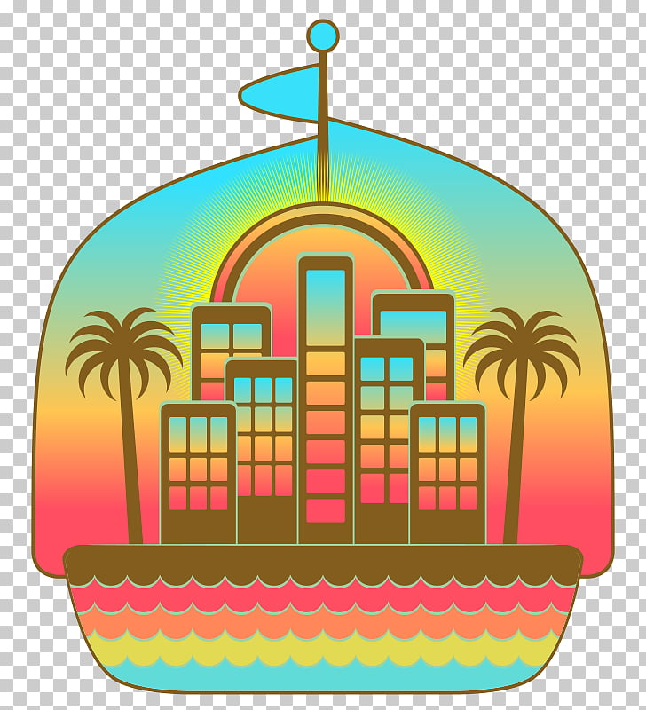 Hotel Beach Apartment , Cartoon School Building PNG clipart.