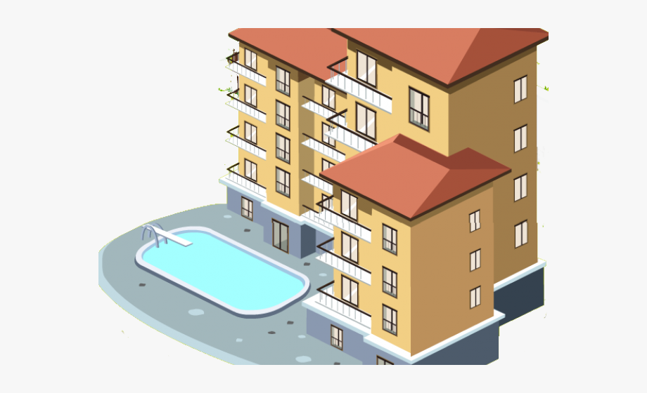 Bulding Clipart Apartment Home.