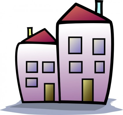 Apartments Clipart.