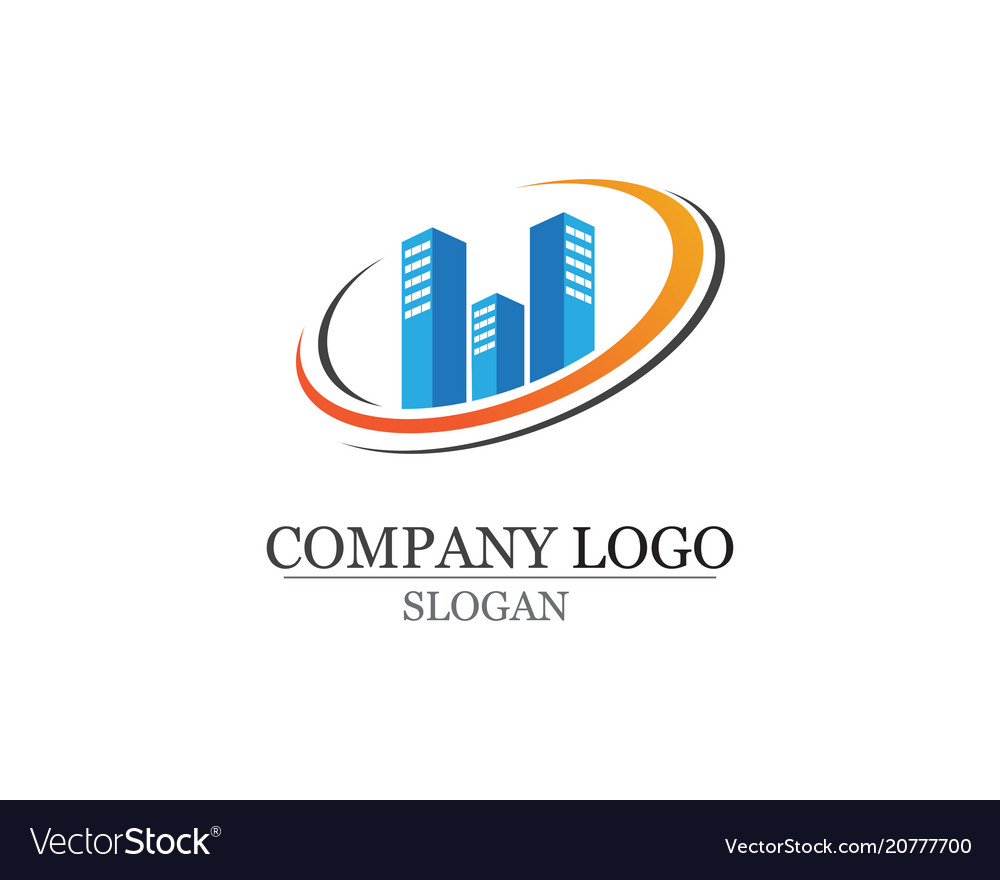 Apartment logo design for business corporate sign.