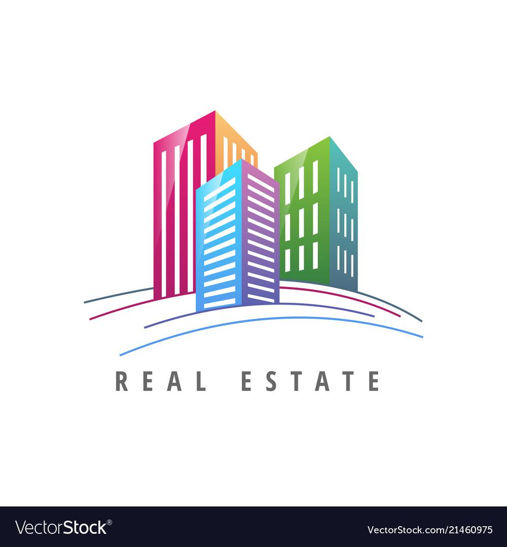 Logo template real estate apartment condo house.
