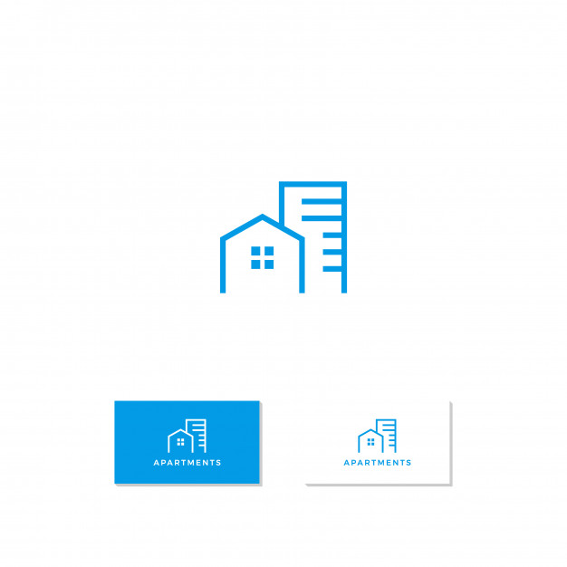 Apartment logo design Vector.