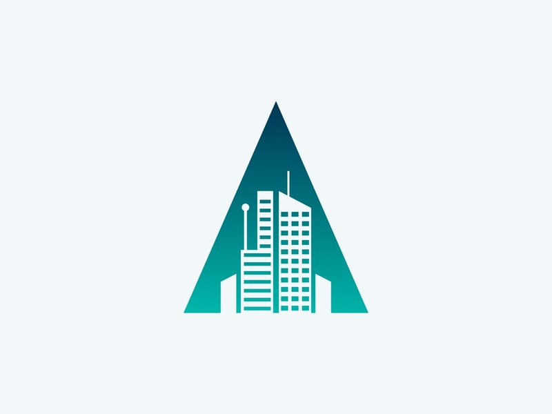 Apartment Logo Concept with Initial A by diikast on Dribbble.