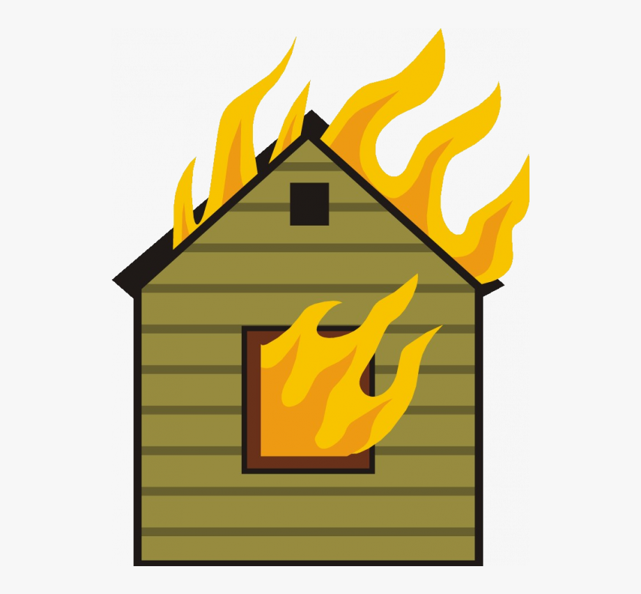 Cartoon Apartment On Fire , Transparent Cartoon, Free.