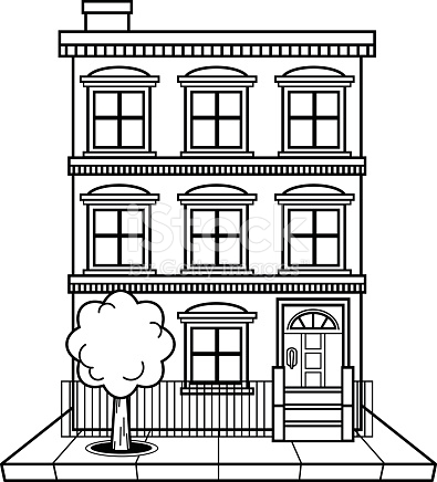 Apartment Building Clipart Black And White.