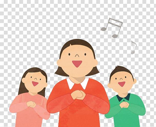 Choir singing illustration, Singing Child, Children singing.