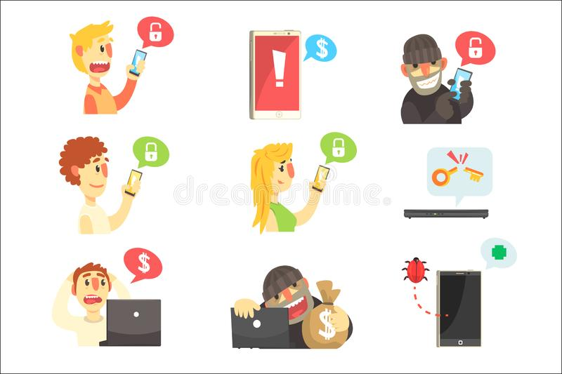 Criminal Stealing Stock Illustrations.