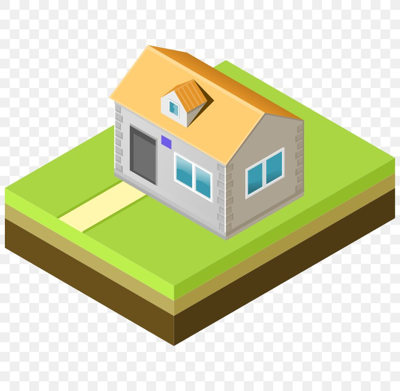 Isometric Projection House Drawing Clip Art, PNG, 800x800px.