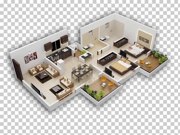 Isometric projection Granger House Apartment Axonometric.