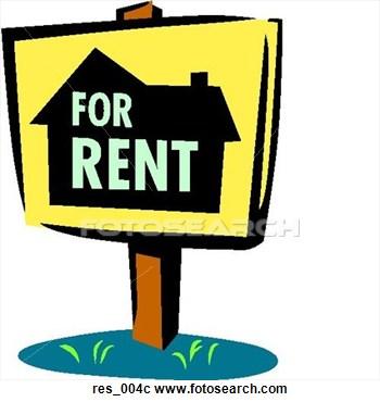 Apartment rental clipart.