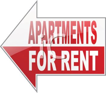 Apartment for rent clipart.