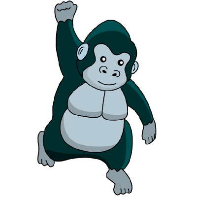Clip Art. Gorilla Clipart. Stonetire Free Clip Art Images.