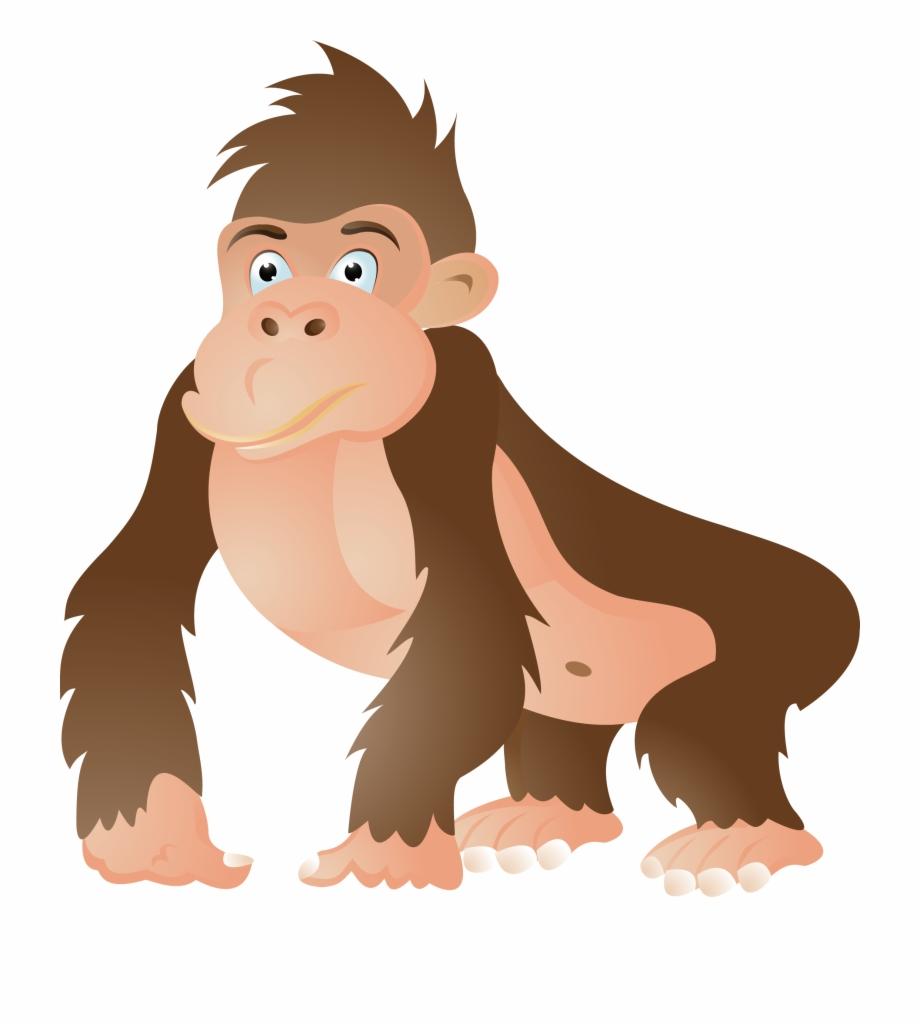 Gorilla Ape Chimpanzee Cartoon Clip Art.