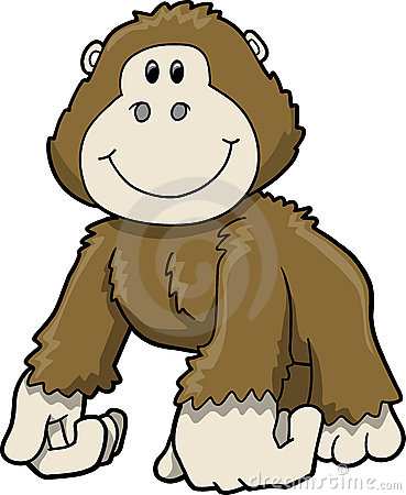 Baby Ape Clipart.