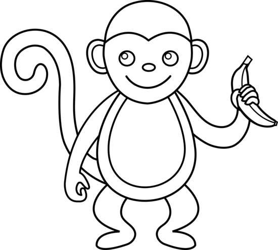 Free Black And White Clipart Monkey, Download Free Clip Art.