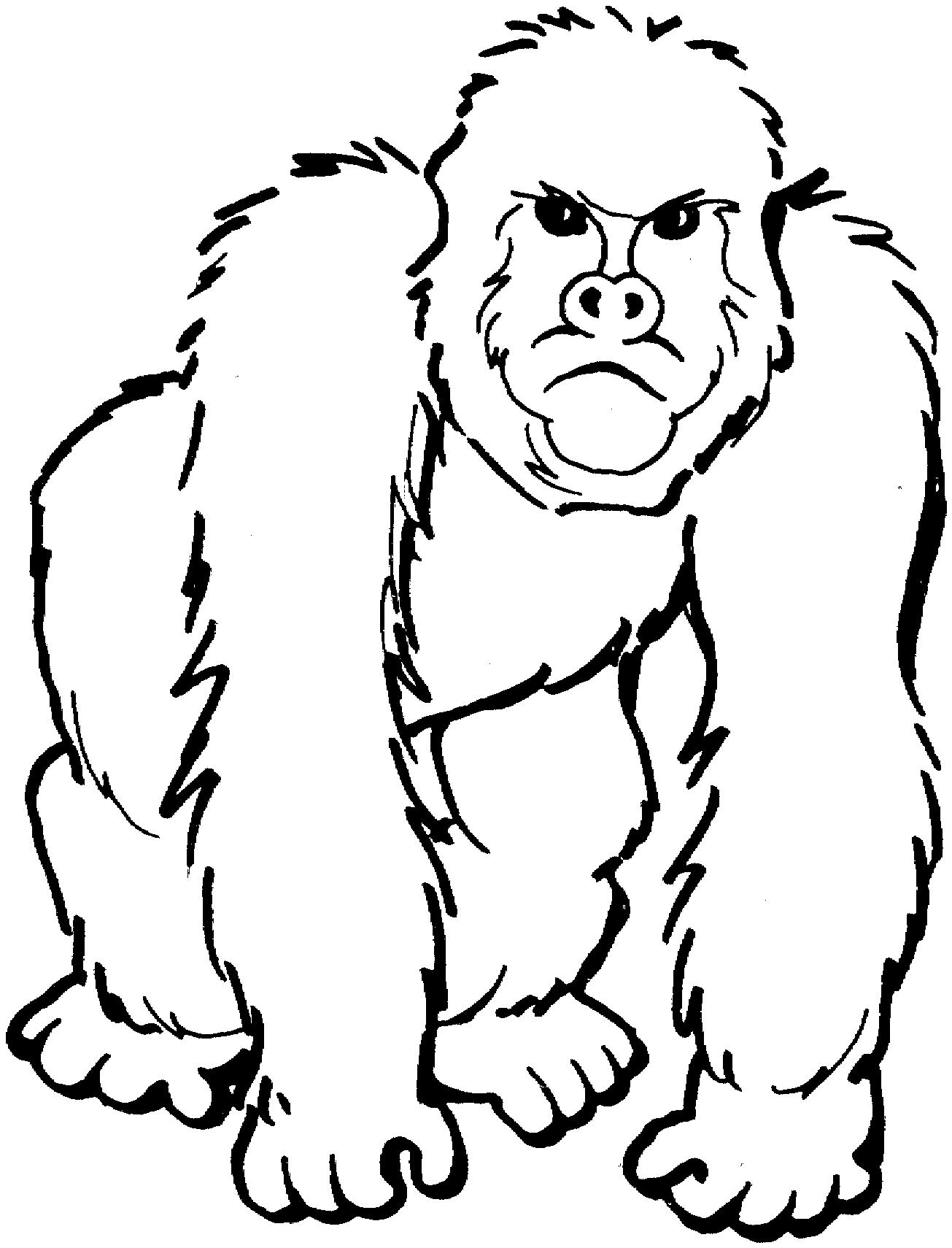 Ape clipart black and white, Ape black and white Transparent.
