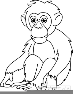 Ape Clipart Black And White.