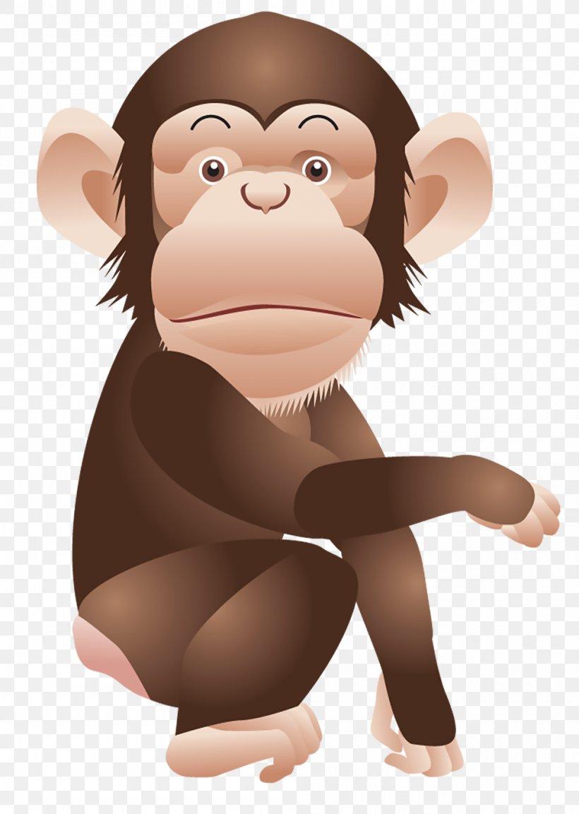 Chimpanzee Monkey Ape Clip Art, PNG, 1000x1407px, Chimpanzee.