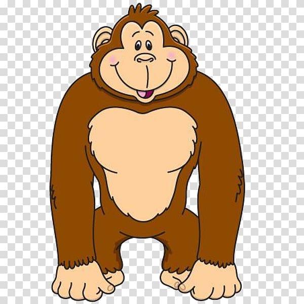 Gorilla Ape , gorilla transparent background PNG clipart.