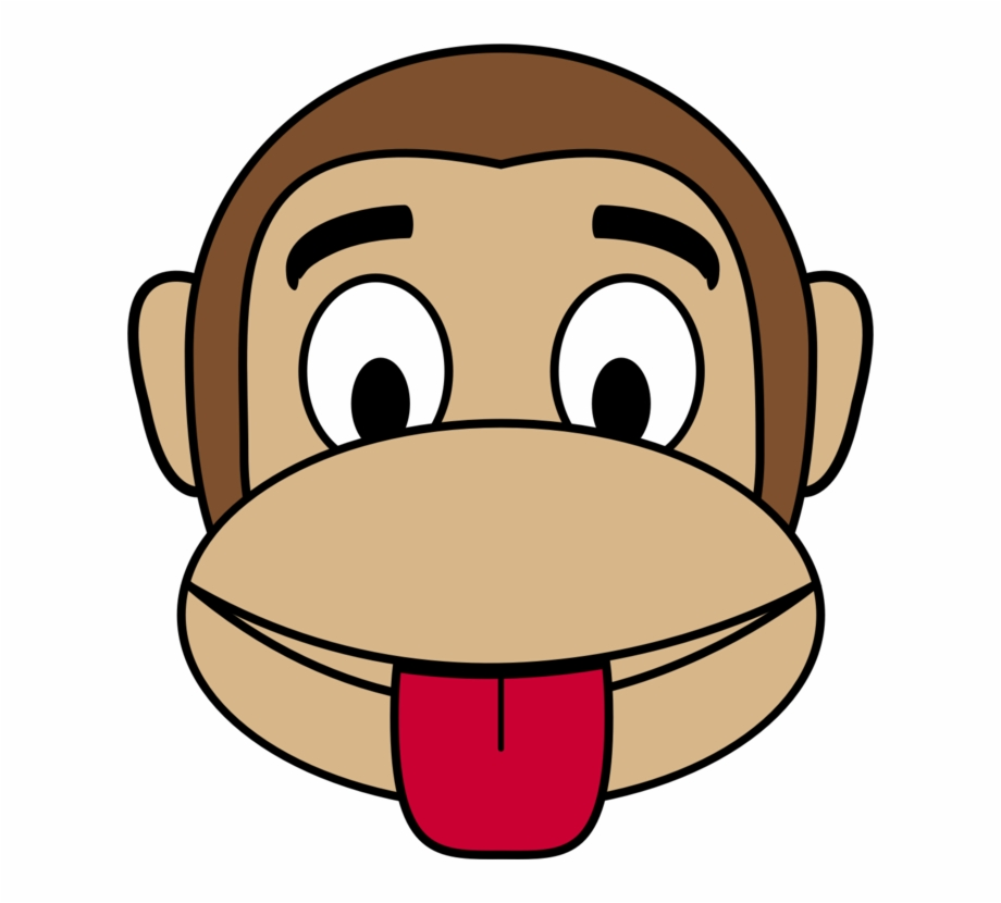 Emoji Monkey Happiness Smiley Ape Monkey Face Clipart.