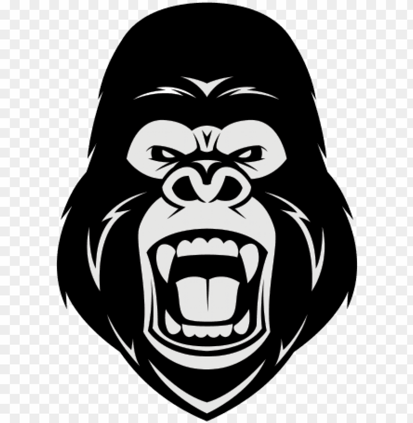 free download angry gorilla illustration clipart gorilla.