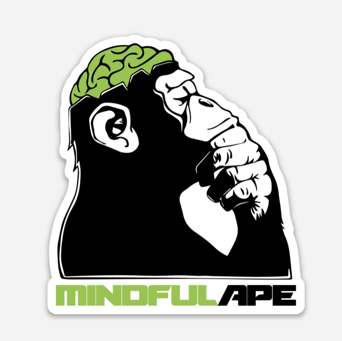 Ape Logo Sticker — Mindful Ape.