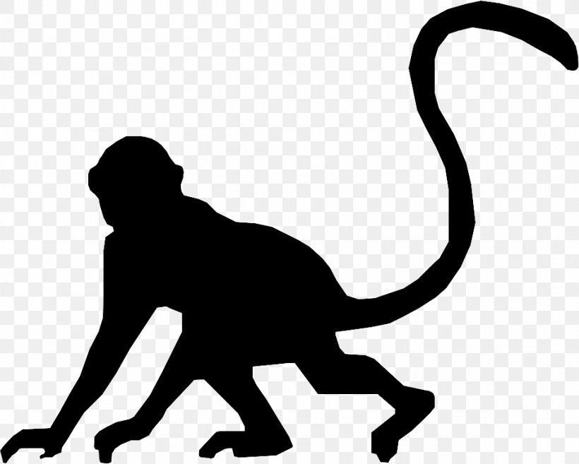 Cat Silhouette Monkey Clip Art, PNG, 951x763px, Cat, Black.