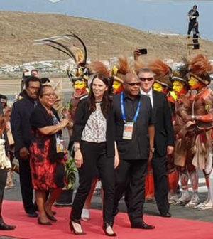Jacinda Ardern arrives in PNG for APEC.