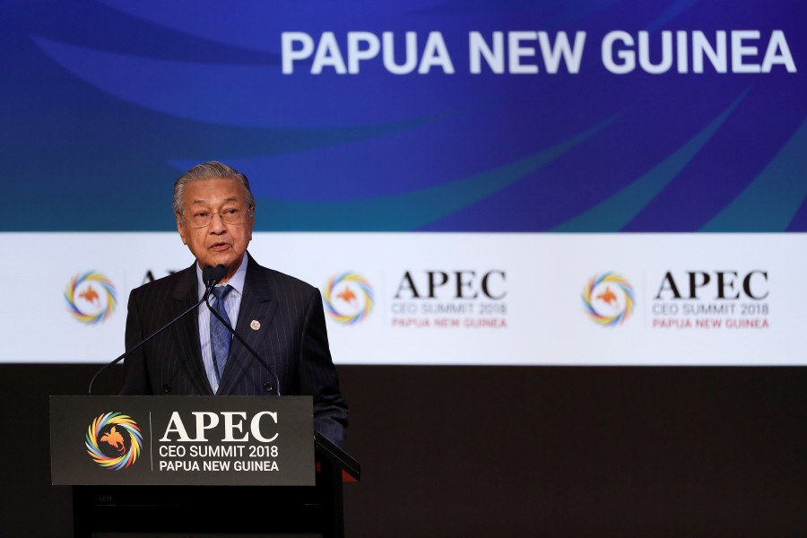 Dr M's full speech at the 2018 APEC CEO Summit.