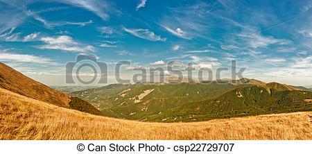 Stock Photography of Reggio Emilia Apennines panorama.