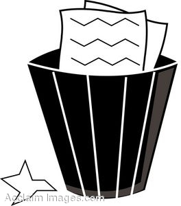 Gallery For > Crumple Paper Trash Clipart.
