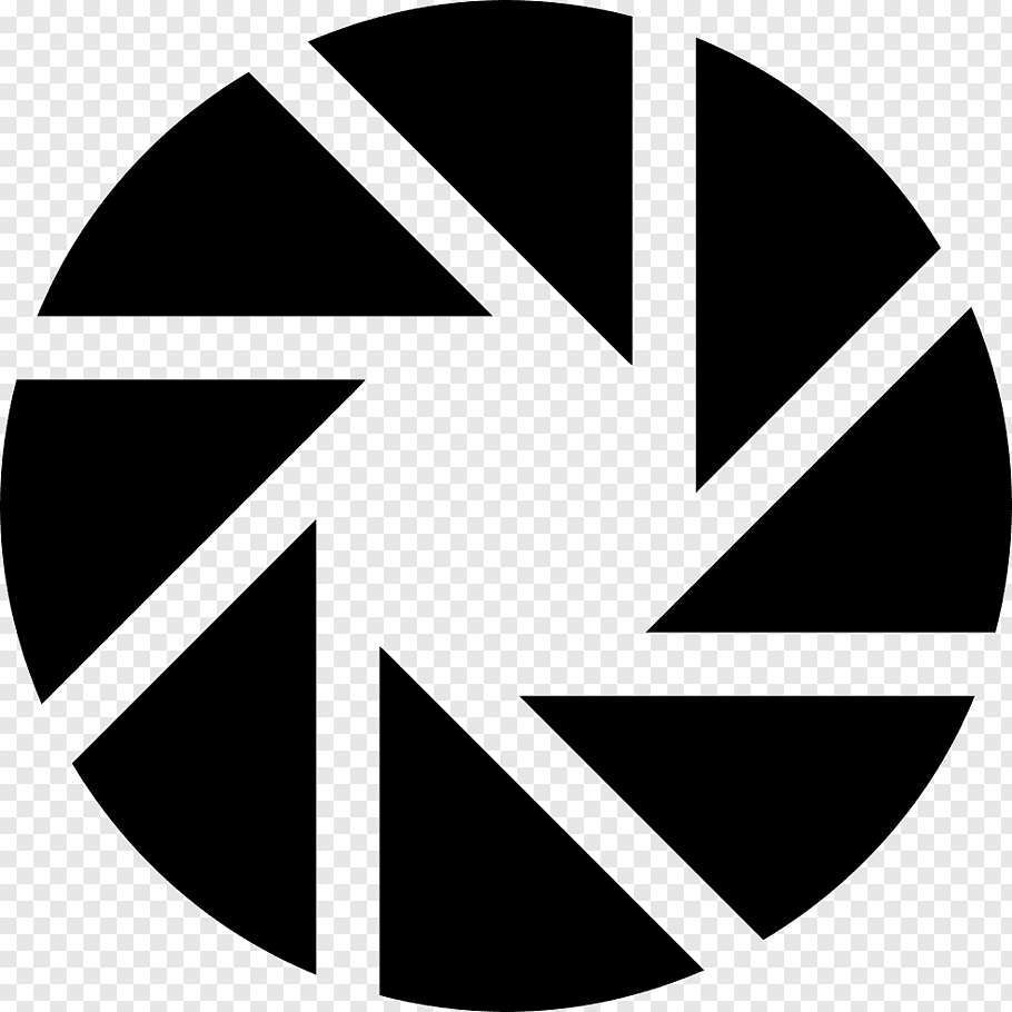Round black logo, Aperture Computer Icons graphy Scalable.