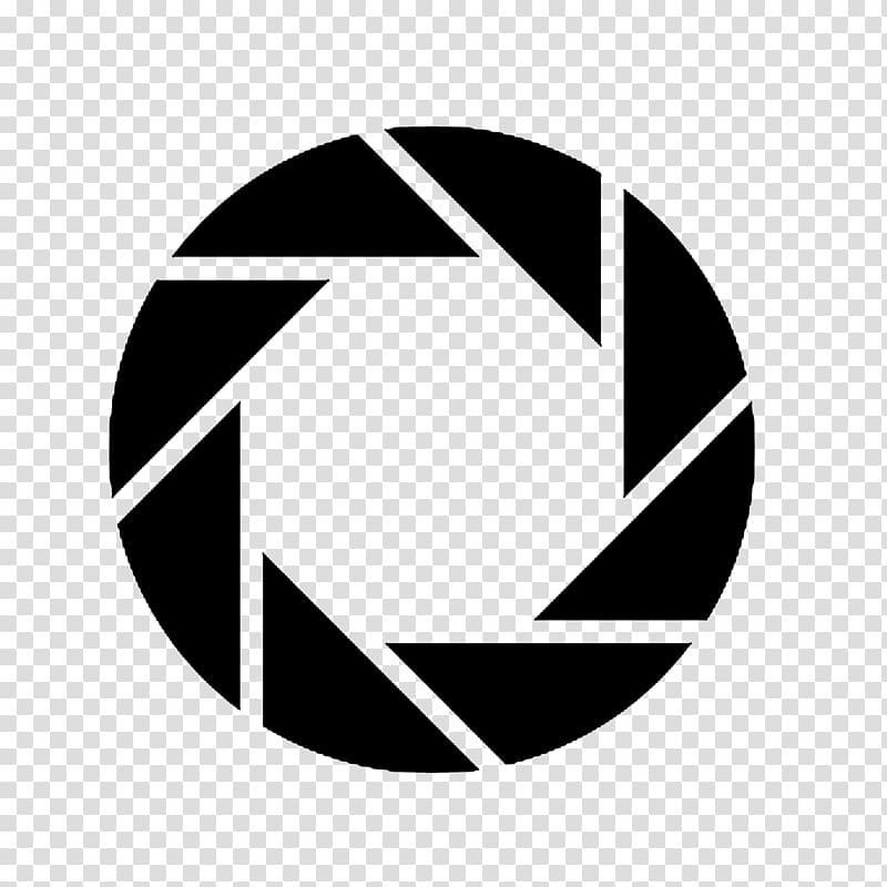 Camera shutter illustration, Black Mesa Portal 2 Aperture.