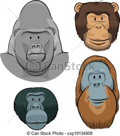 Apes Vector Clipart EPS Images. 7,020 Apes clip art vector.