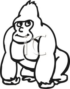 Ape Animated Clipart.