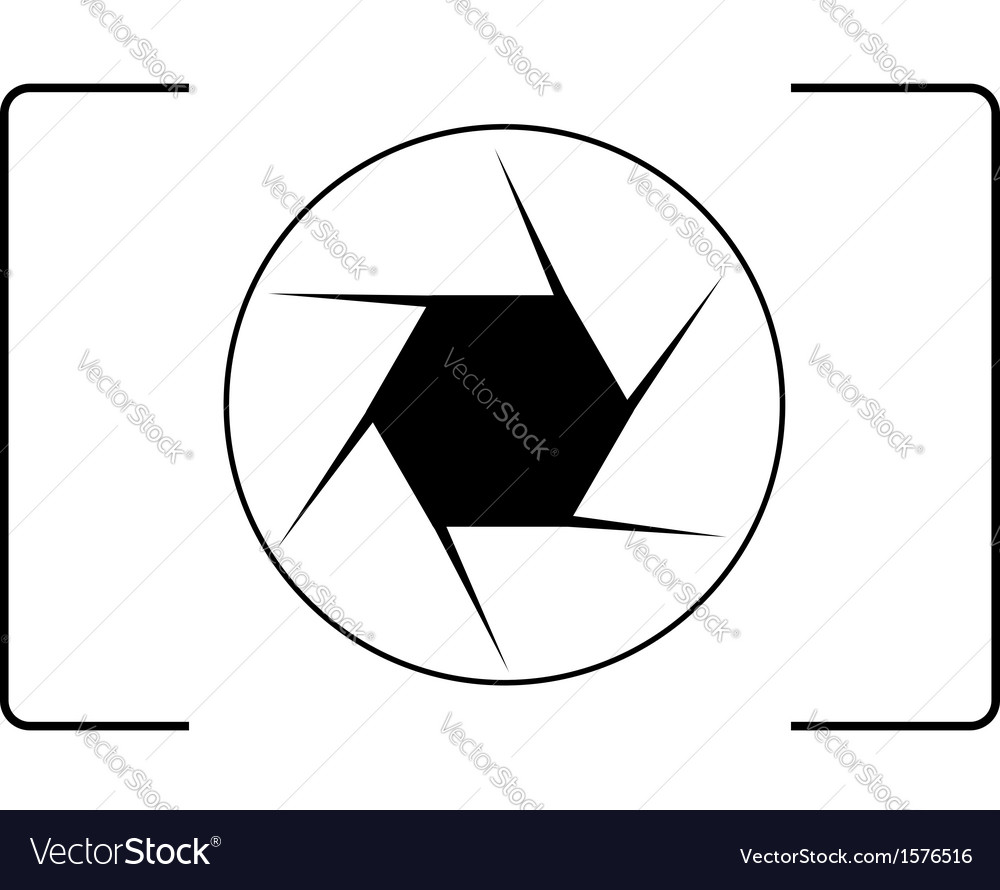 Photography logo with an aperture.