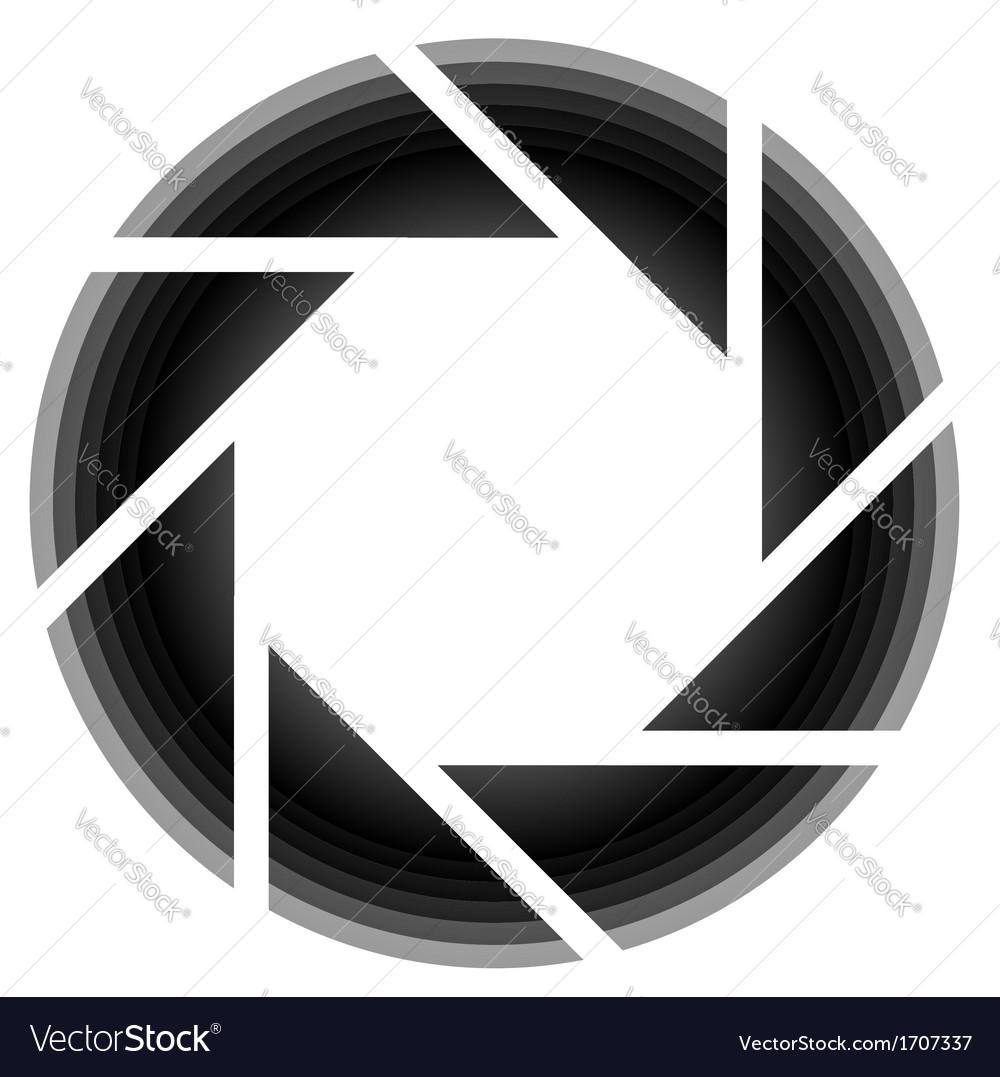 Photography aperture logo.