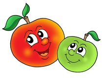 Pair Of Big Red Apples Clipart Royalty Free Stock Images.