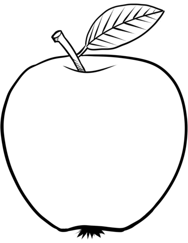 Ausmalbild: Apfel. Kategorien: Äpfel. Kostenlose.