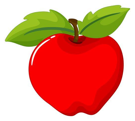 Roter Apfel auf weißem Hintergrund.